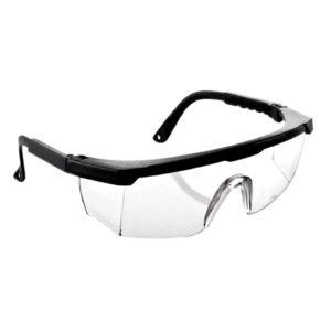 Очки защитные с регулирующимися дужками, черные