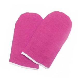 JessNail, Варежки для парафинотерапии махровые (1 пара), розовые