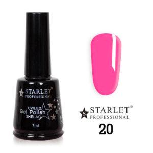 Starlet, Гель-лак №020 «Розовая туфелька», 7мл