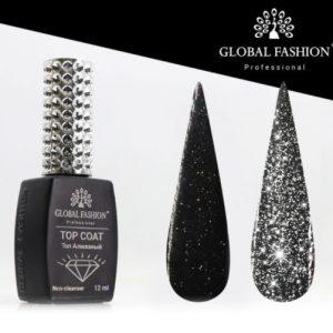 GF, Disco Silver Топ без липкого слоя Светоотражающий (серебро), 12мл