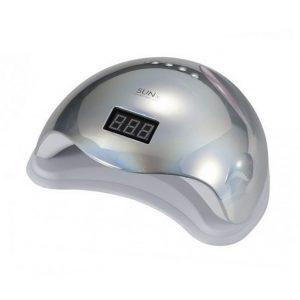 SUN5, UV/LED Лампа с дисплеем 48W, серебро