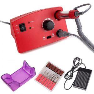 ZS-602, Аппарат для маникюра и педикюра 65W 35 000 обмин, красная