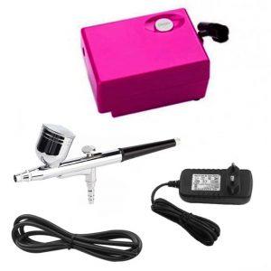 Аirbrush makeup system SP-16, Аэрограф для ногтей, фуксия